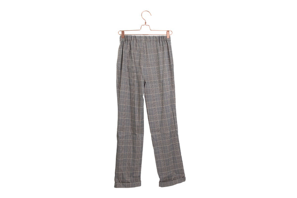 Plaid Cuffed Pants