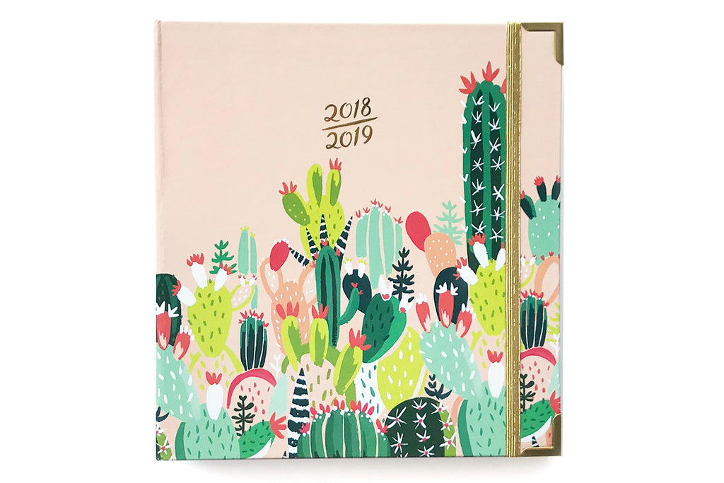 2018-2019 Prickly Pear 17 Month Planner