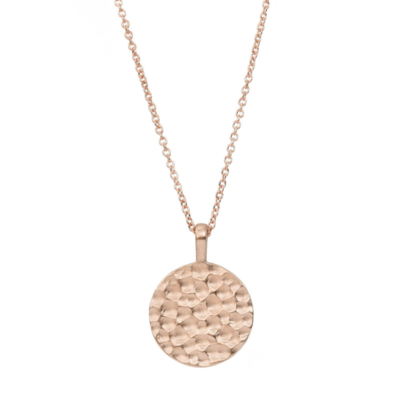 Carved Disc Necklace