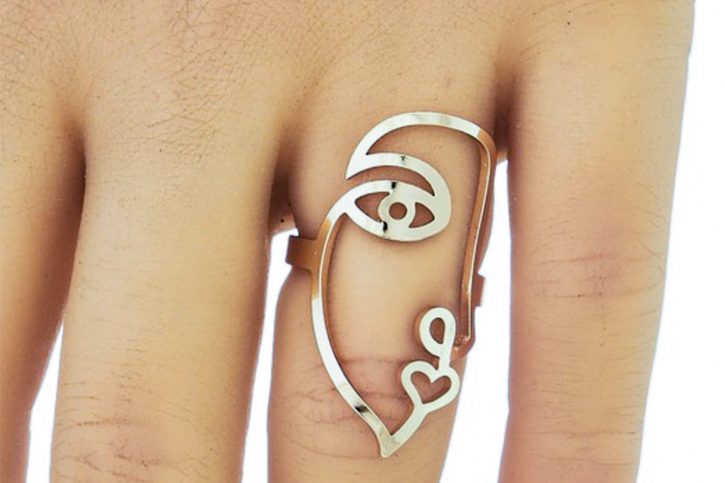 Abstract Face Ring