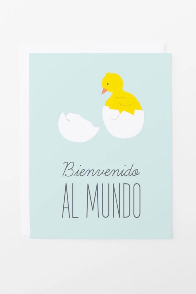 Baby Chick Spanish Card