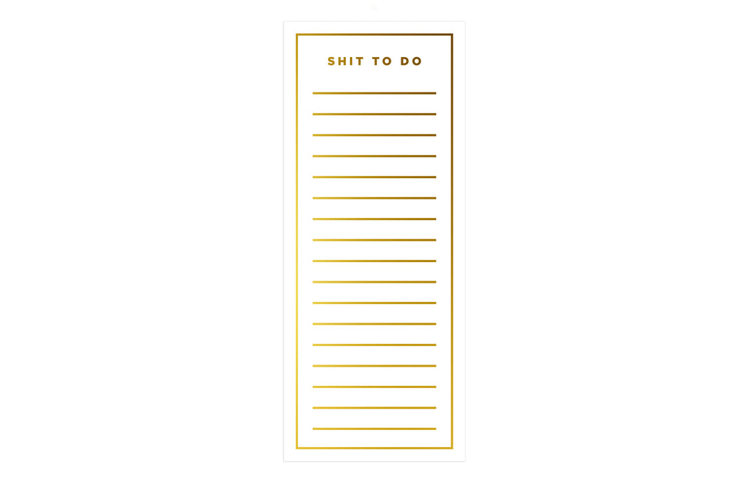 Shit to Do List Pad