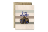 Striped Bon Voyage Card