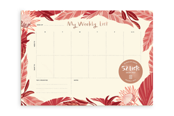 "52 Lists ""My Weekly List"" Desk Pad"