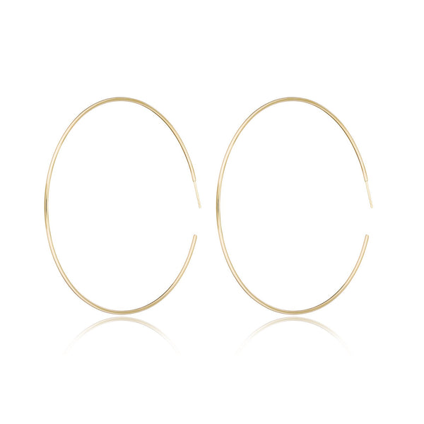 "2.5"" Gold Hoops"