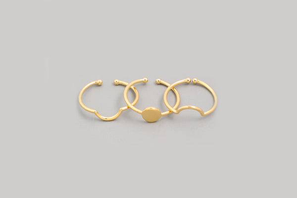 Arch and Circle Ring Trio