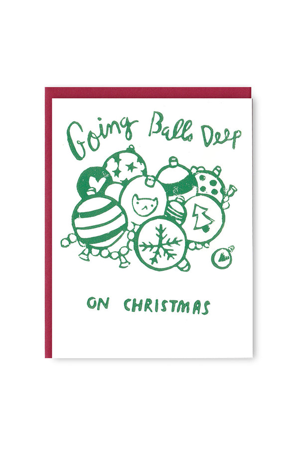 Balls Deep Christmas Card