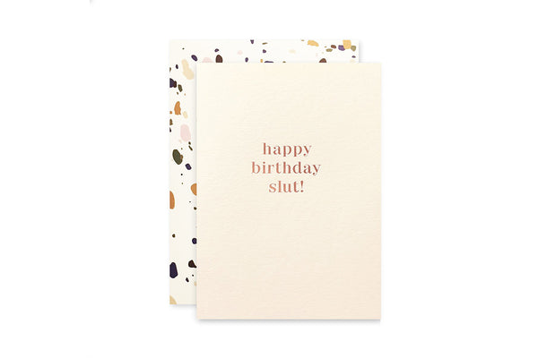 Birthday Slut Card