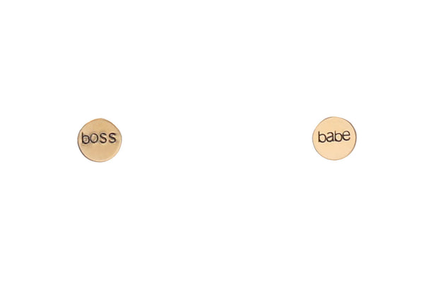 Boss Babe Circles Earrings