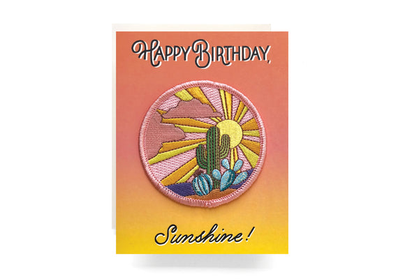 Cactus Sunshine Patch Birthday Card