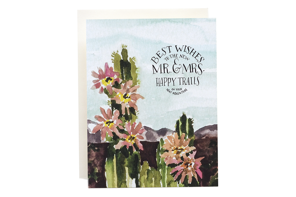 Cactus Mr. and Mrs. Card