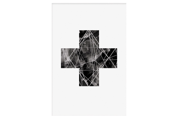 Black Cross Print