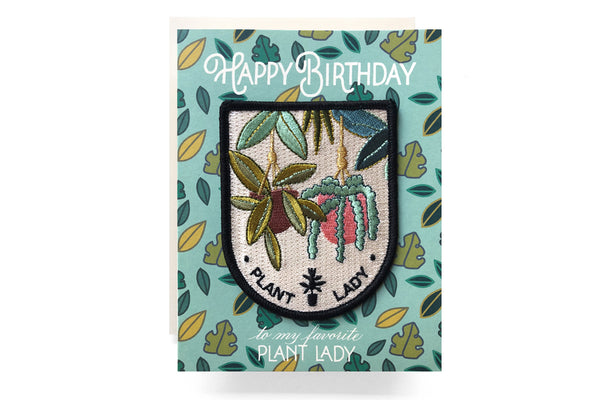 Plant Lady Patch Birthday Card