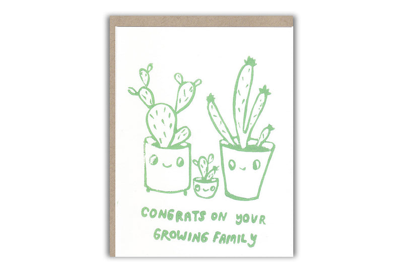Cactus Family Card