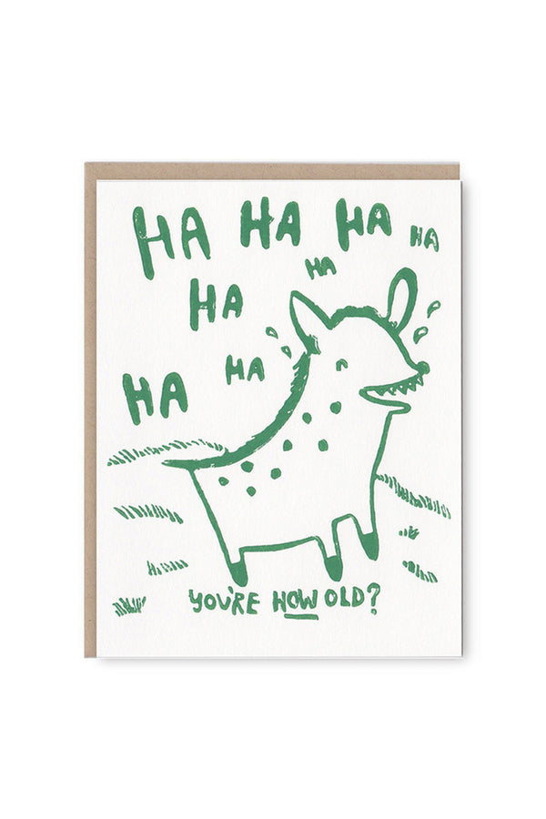 Hyena Birthday Card