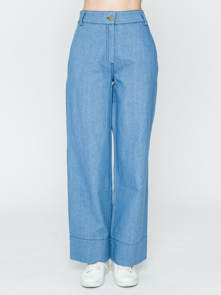 High Rise Wide Leg Trousers