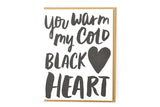 Cold Black Heart Card