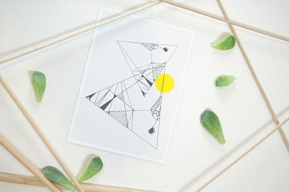 Abstract Triangle Print
