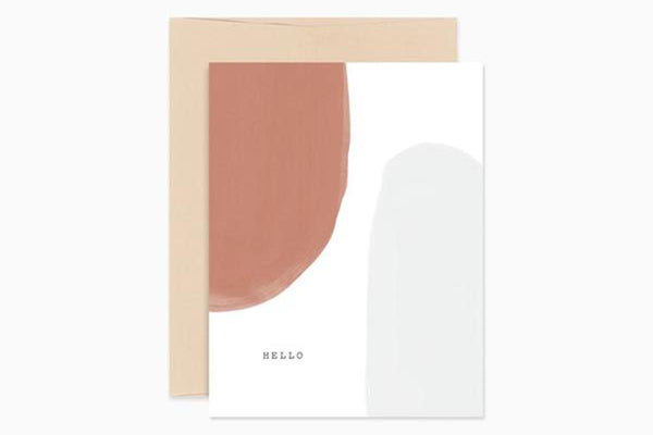 Abstract Hello Card