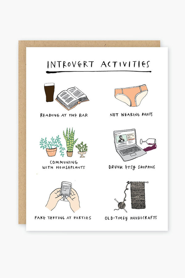 Introvert Activities Card