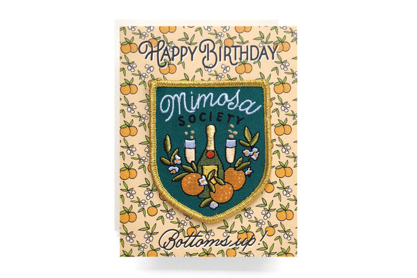 Mimosa Patch Card