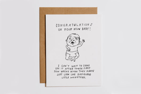 Monster Baby Card