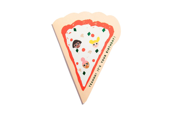 Pizza Die Cut Birthday Card