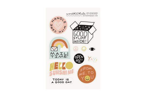 Snail Mail Sticker Sheet Set