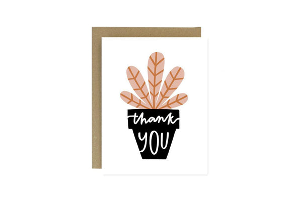 Potted Plant Thank You Card