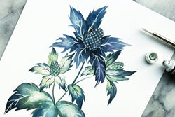 Sea Holly Thistle Print