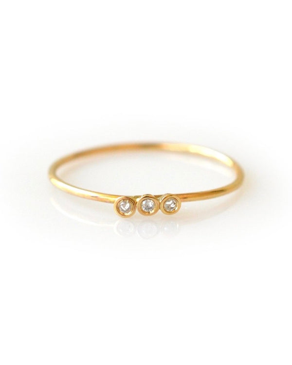Gold Diamond Trio Ring
