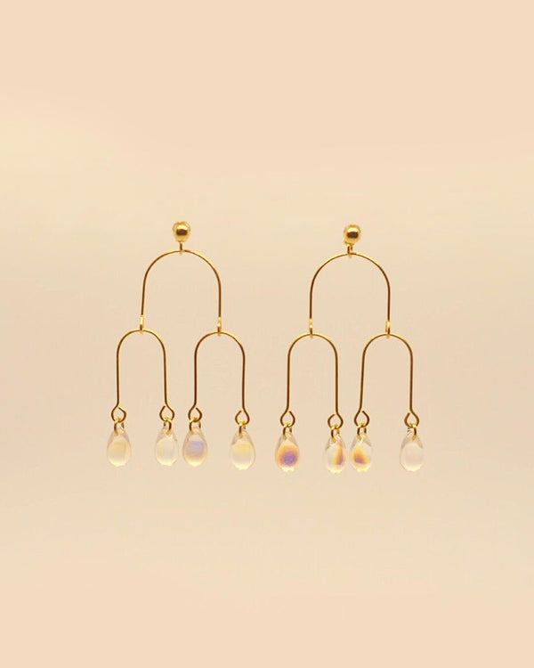 Blossomed Earring in Teardrop