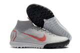 "Chuteira Nike Mercurial Superfly 6 Elite TF ""Raised On Concrete"" Vermelho/Cinza"