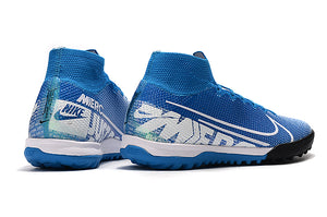 "Chuteira Nike Mercurial Superfly 7 Elite TF ""New Lights"" Azul/Branco"