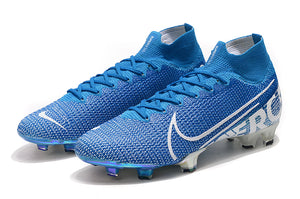 "Chuteira Nike Mercurial Superfly 7 FG Elite ""New Lights"" Azul/Branco"