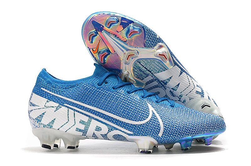 "Chuteira Nike Mercurial Vapor 13 FG Elite  ""New Lights"" Azul/Branco"