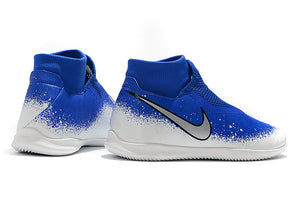 "Chuteira Nike Phantom Vision Elite Dynamic Fit IC ""Euphoria"" Azul/Branco"