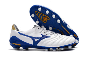 Chuteira Mizuno Morelia Neo II Made in Japan Branco/Azul