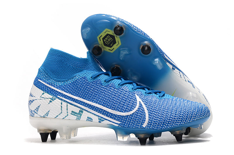"Chuteira Nike Mercurial Superfly 7 Elite SG ""New Lights"" Azul/Branco"