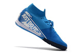 "Chuteira Nike Mercurial Superfly 7 Elite IC ""New Lights"" Azul/Branco"