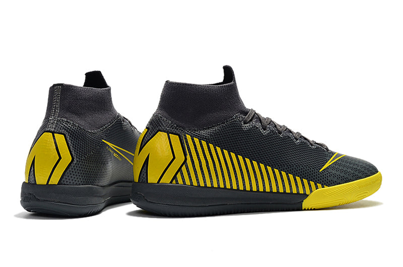 "Chuteira Nike Mercurial Superfly 6 Elite IC ""GameOver"" Cinza/Amarelo"