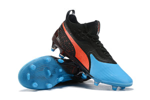 "Chuteira Puma One 19.1 FG/AG ""Power Up"" Azul/Preto"