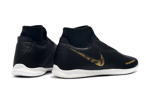 "Chuteira Nike Phantom Vision Elite Dynamic Fit IC ""Black Lux"" Preto/Dourado"