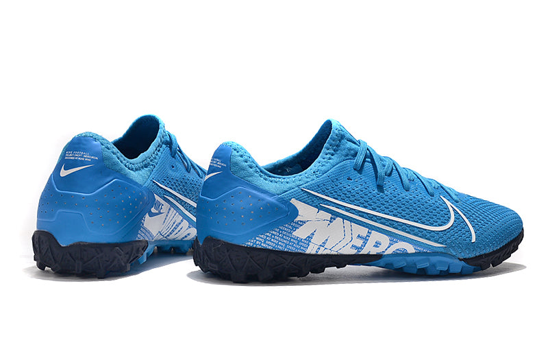 "Chuteira Nike Mercurial Vapor 13 TF ""New Lights"" Azul/Branco"