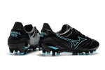 Chuteira Mizuno Morelia Neo II Made in Japan Preto/Azul