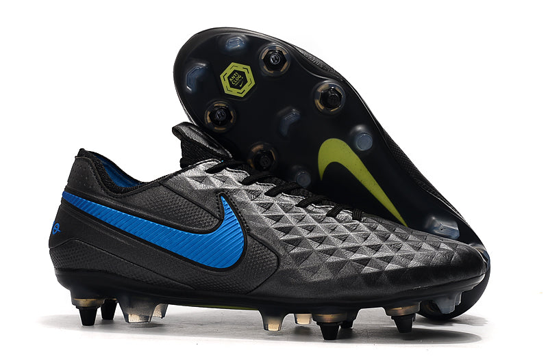 "Chuteira Nike Tiempo Legend 8 Elite SG ""New Lights"" Preto/Azul"