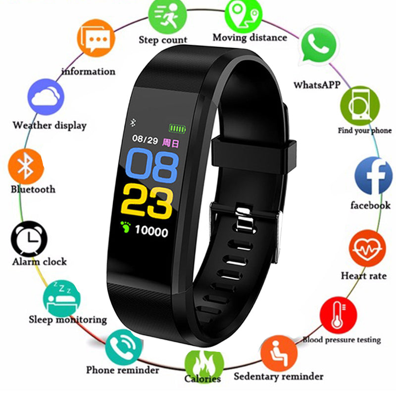 Smart Wristbands Health Monitor Bluetooth Waterproof Sports Bracelet