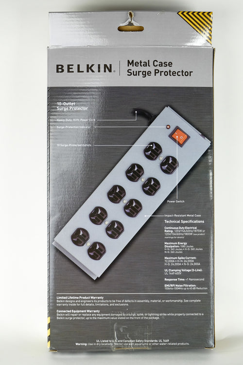 Belkin 10-Outlet Metal Surge Master with 15-Foot Cable