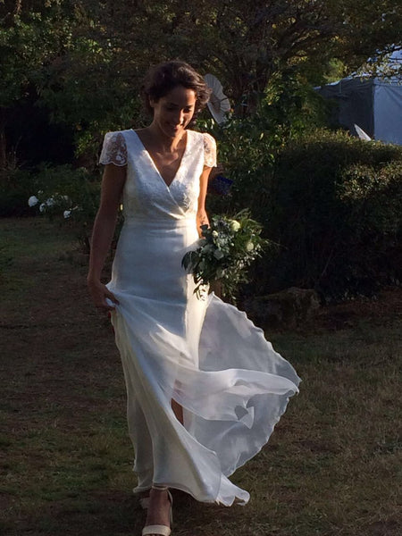 Peony Rice Wedding Gown in France