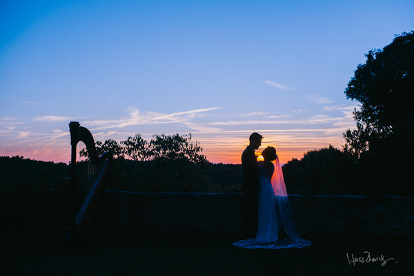 chinese bride and groom sunset elopement photo